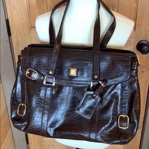 Diane Von Furstenberg laptop/travel bag Brown EUC